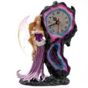 Crystal Rock Fairy Clock
