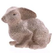 Natural Stone Effect Hare Crouching 11.5cm