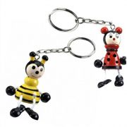 Ladybird/Bee Wood Key Ring