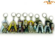 One Piece Anime Action figure keychain